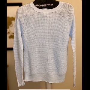 Soft baby blue knit sweater